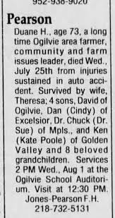 Halvor Duane Pearson obituary - Newspapers.com