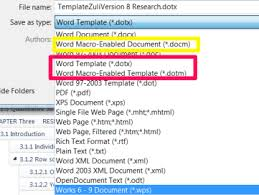 Word Thesis Template Why You Need To Use The Template Dotx Formatting A