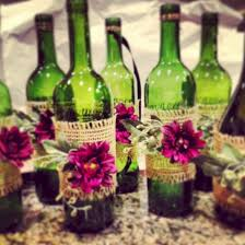Simple but beautiful wedding centerpieces ideas using wine bottles (47)