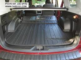 2017 subaru forester cargo area with rear per cover cargo tray rear seatback protector