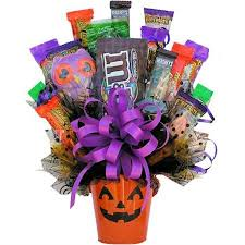 pumpkin candy bouquet