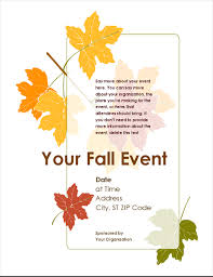 Fall Flyer Fall Event Flyer With Leaves