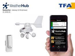 Starter Set With Wireless Wind Meter Weatherhub Tfa Dostmann