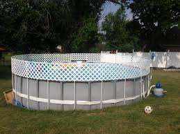above ground pool fence diy 1 2inch pvc pipe and white pvc lattice