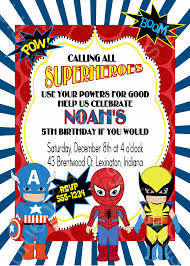 superheroes party invites calling all superheroes birthday party invitation boy or coed