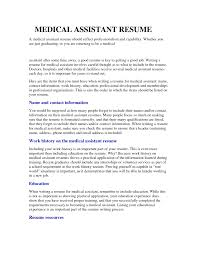Cover Letter Medical Field Resume Examples Resume Examples For