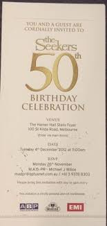 celebration invite the seekers 50th birthday celebration limited edition invite