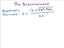discriminant in quadratic formula help in high school math advanced algebra free math help s by mathvids com