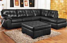 black leather sofa sectional  with black leather sofa sectional