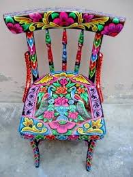 colorful painted furniture.  Colorful Silla Pintada Hand Painted ChairsHand  Inside Colorful Furniture