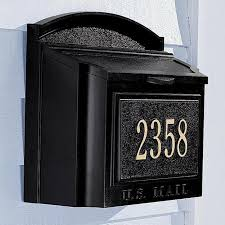 custom wall mount mailbox. Unique Mount Wall Mounted Mail Boxes Mailboxes At  Brookstonebuy Now Kick Ady To Custom Mount Mailbox A