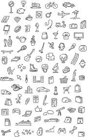 набор иллюстраций Bujo Doodle грифонаж идеи для ежедневника и