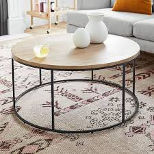 streamline round coffee table