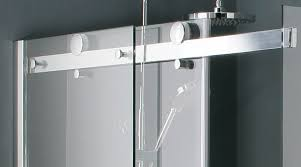 image of frameless sliding glass shower door brands