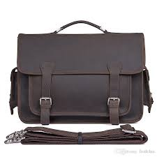 retro exquisite europe and america quality new mad horse leather dark brown handbag head layer leather bag brief briefcase women bags leather bags for men