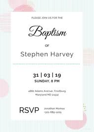 30 Baptism Invitation Templates Free Sample Example Format