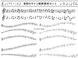 無料イラスト 音符ラインシルエットアイコン音楽イラストかわいい