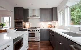 gray shaker cabinet doors. New Ideas Gray Shaker Cabinet Doors With Dark Kitchen Cabinets Transitional
