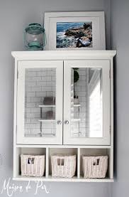 white mirrored bathroom wall cabinets: bathroom awesome vintage white wood bathroom mirrors with double