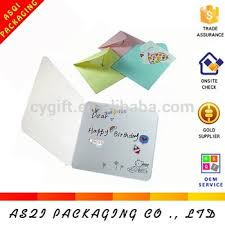 Fashion Small Size Writable Birthday Invitation Card With Letter And