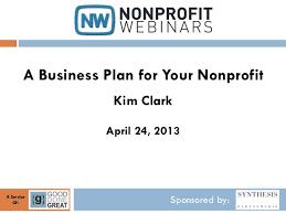 Nonprofit Business Plan Template A Business Plan For Your Nonprofit