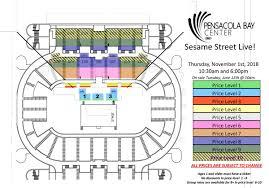 Pensacola Bay Center Seating Chart Sesame Street Live Make Your Magic Pensacola Bay Center