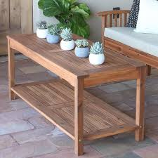 Outddor Garden Patio Coffee Table Acacia Hard Wood Deck Backyard Furniture