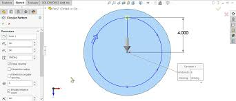 Circular Pattern Solidworks Mesmerizing SOLIDWORKS Hole Wizard With Circular Sketch Pattern