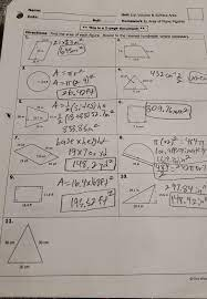 Area of plane figures date: Unit 11 Volume Amp Surface Areahomework 1 Area Of Plane Figuresdirections Find The Area Of Each Brainly Com