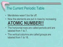 The Periodic Table Chapter 6. Why is the Periodic Table important ...