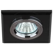 DK8 CH/BK Светильник <b>ЭРА</b> декор стекло квадрат MR16,<b>12V</b> ...