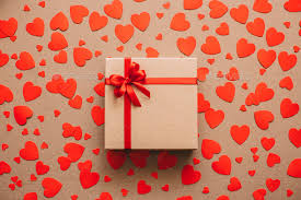 Gifts Background Heart Background Valentines Day Abstract Paper Hearts And Gift Box With Red Ribbon