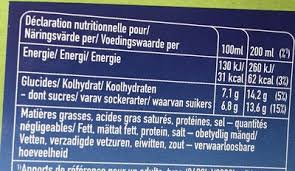 boisson aux fruits bio multi fruits capri sun bio nutrition facts