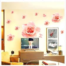 chinese wall decor wall decor beautiful big size rose flower living room wall stickers window decor chinese wall decor