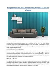 website to arrange furniture. Design Homes With Small Rooms Tactfully To Create An Illusion Of Space By Idpropdotcom - Issuu Website Arrange Furniture N