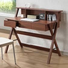 baxton studio freen sonoma oak finishing modern writing desk desk brown brown