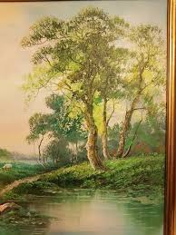 r danford 20th century country landscape painting