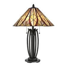 quoizel victory 25 5 in valiant bronze table lamp with tiffany style shade