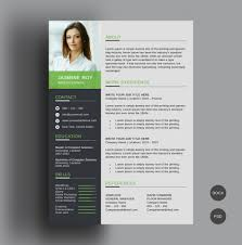 Best Modern Clean Resume Design Template Cv Design Free Download Clean Resume Template