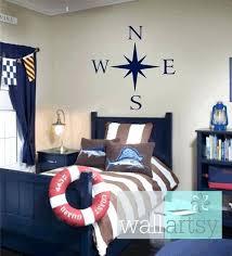 Beautiful Childrens Nautical Bedroom Compass Wall Decal Nautical Vinyl Wall Decals  Sailboat Girl Boy Baby Nursery Room