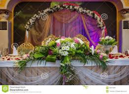 Bride Groom Table Decoration Wedding Table Groom And Bride Royalty Free Stock Photo Image