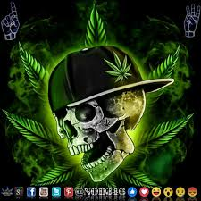skull gangster weed cans arte