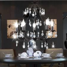 rusty chandelier with glass crystals height 1m monza bild 2