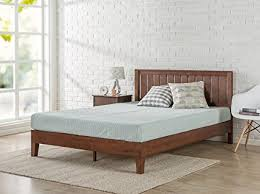 platform bed no box spring.  Box Zinus 12 Inch Deluxe Wood Platform Bed With HeadboardNo Box Spring  NeededWood For No