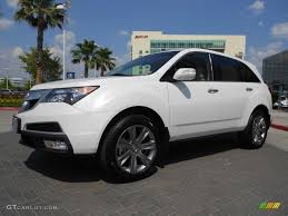 Aspen White Pearl II 2012 Acura MDX SH-AWD Advance Exterior Photo ...