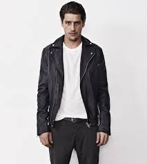 men s go to outfit combinations black biker jacket with white t shirt