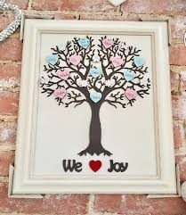 personalised framed wooden family tree