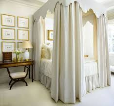 It seems only appropriate to start with the classic canopy bed arrangement,  with a full tester and curtains. I like to call this one 'The Felicity', ...