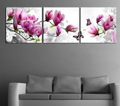 3 pcs modern painting purple pink flower oil painting on the wall modular pictures top  on canvas wall art pink flowers with 3 pcs modern painting purple pink flower oil painting on the wall