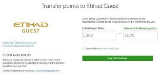 Transferring Amex Membership Rewards Points To Etihad Guest